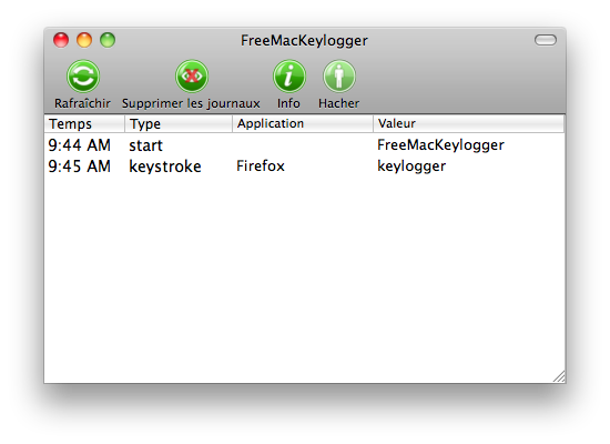 Keylogger Gratuit pour Mac full screenshot