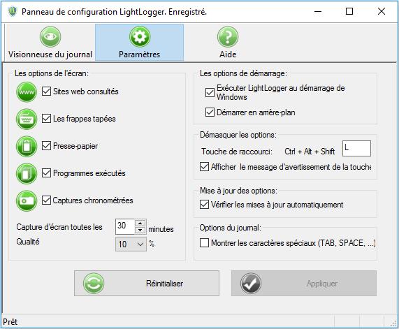 LightLogger Keylogger pour Windows full screenshot